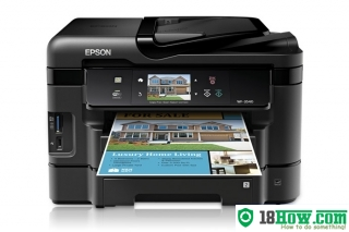How to reset flashing lights for Epson WorkForce WF-3540 printer