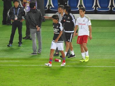 横浜F・マリノスの天野純、榎本哲也、中村俊輔
