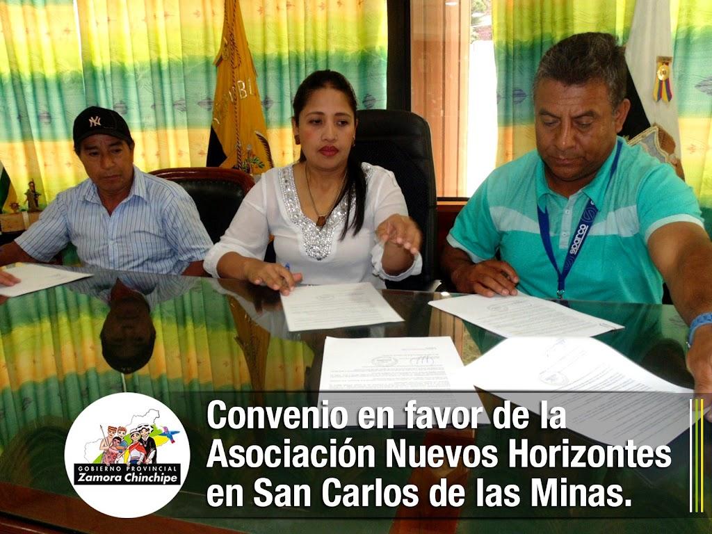 CONVENIO EN FAVOR DE LA ASOCIACIÓN NUEVOS HORIZONTES EN SAN CARLOS DE LAS MINAS.