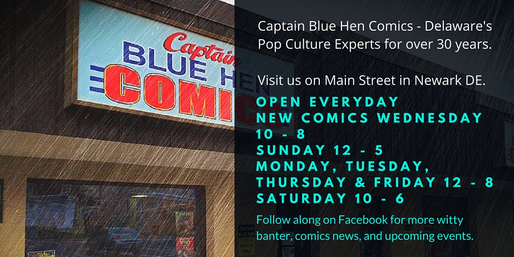 Captain Blue Hen Comics Delawares comic