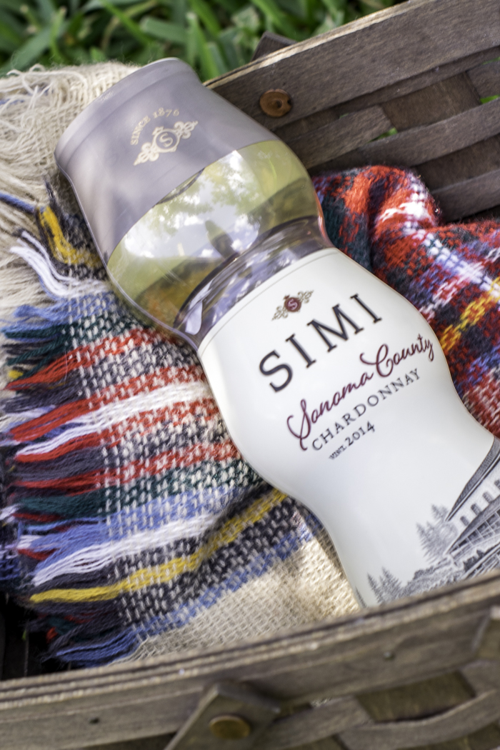 Simi stacked wines for romantic picnic