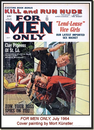 FOR MEN ONLY, July 1964, cover by Mort Kunstler WM2