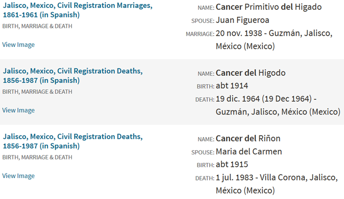 Search results for first name cancer, last name Del