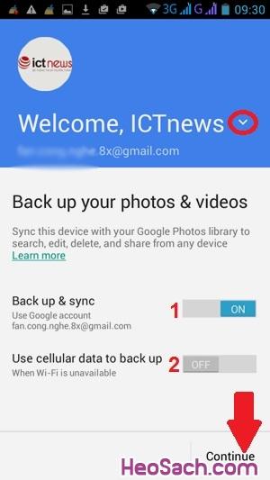 Hình 3 - Sao lưu ảnh với Google Photos trên điện thoại