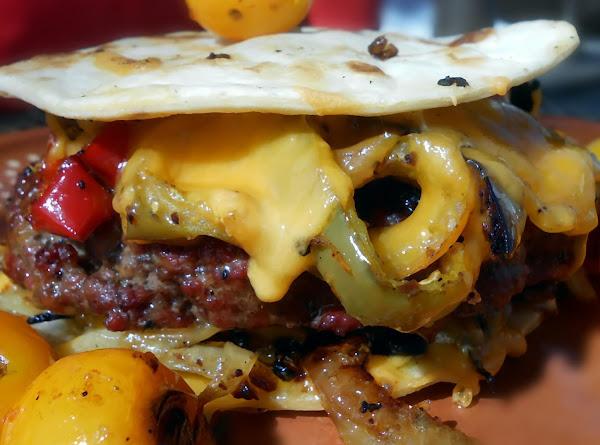 Low Carb Tortilla Burger Recipe