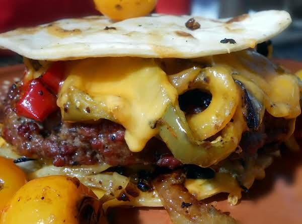 Low Carb Tortilla Burger Recipe