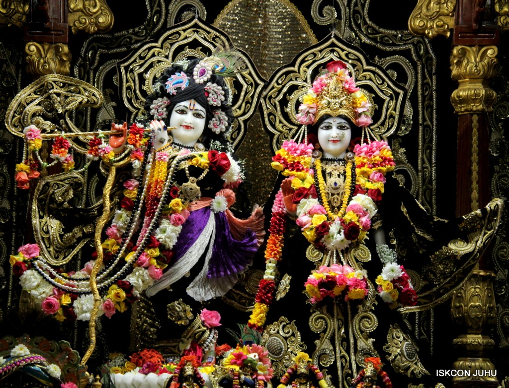 ISKCON Juhu Sringar Deity Darshan 7 Jan 2017  (2)