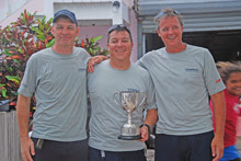 J/22 Cayman Islands winning sailing team