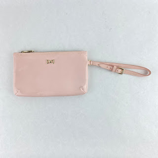 Valentino Patent Leather Zip Top Pouch