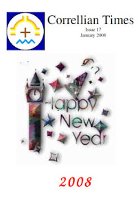 Cover of Correllian Times Emagazine's Book Issue 17 January 2008 Happy New Year