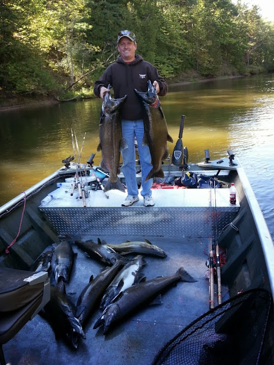 King Salmon River Guide Trips in Michigan