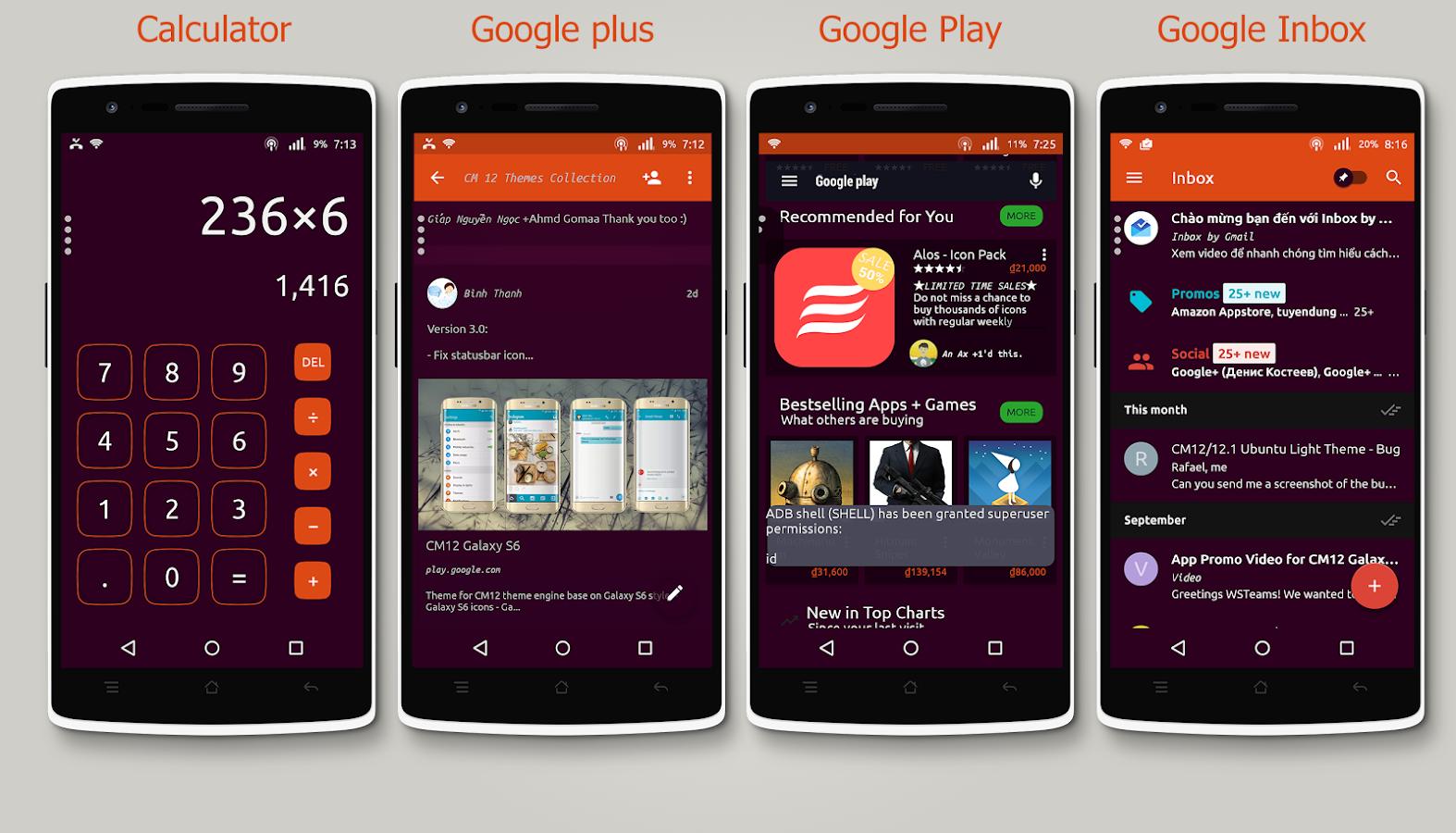 Google theme ubuntu - Cm12 X Cm13 Ubuntu Dark Theme Screenshot