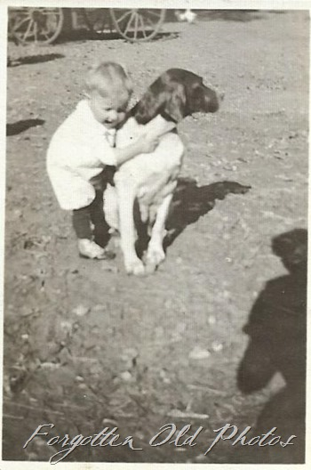 Child and dog Dl ant
