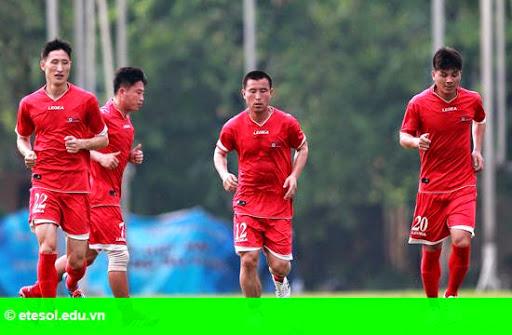 Hình 1:   Đội Triều Tiên và kỷ luật 'nhà binh' ở Hà Nội