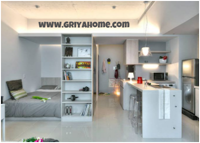 Desain apartemen Studio 4x6