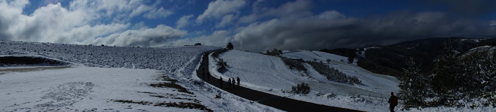 Photo: había nieve!