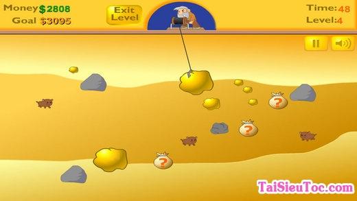 thủ thuật khi chơi game đào vàng trên iPhone