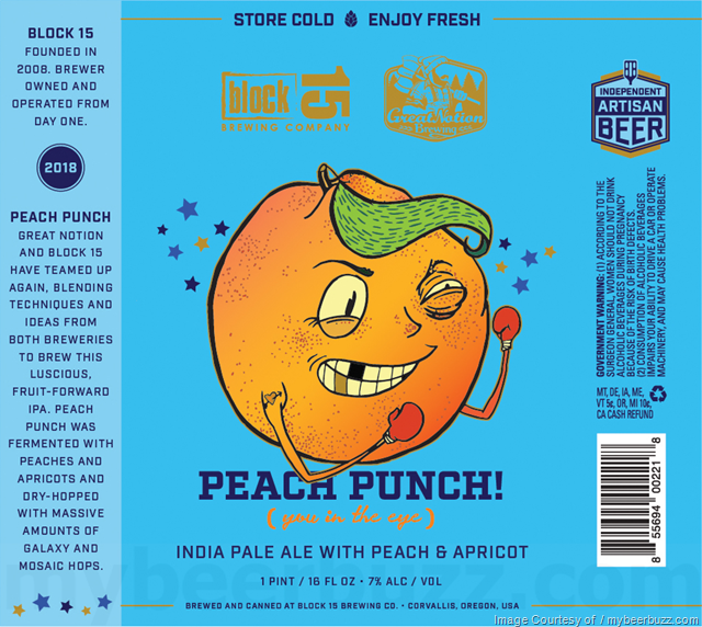 Block 15 & Great Notion Collaborate On Peach Punch Cans