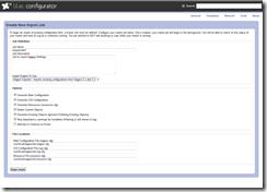 Lilac Configurator - Import Job