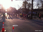 The morning of the race. It was such a beautiful day that we just had to go down and cheer on the runners as they headed towards Piedmont Park!