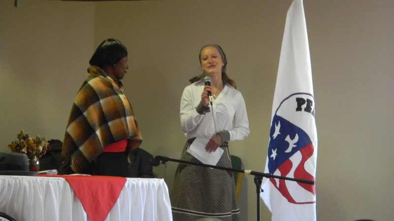Trainee Amelia Plant and her host-mother stole the show with her Setswana poem
