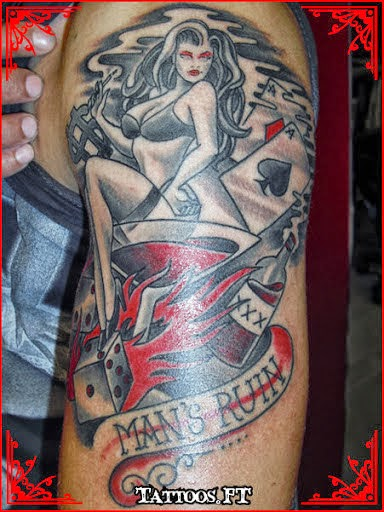 Pictures Of Pin Up Girl Tattoo On Arm Kidskunstinfo