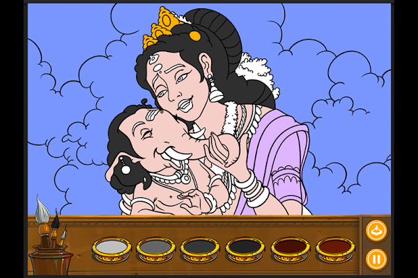 Colouring Ganesha - screenshot