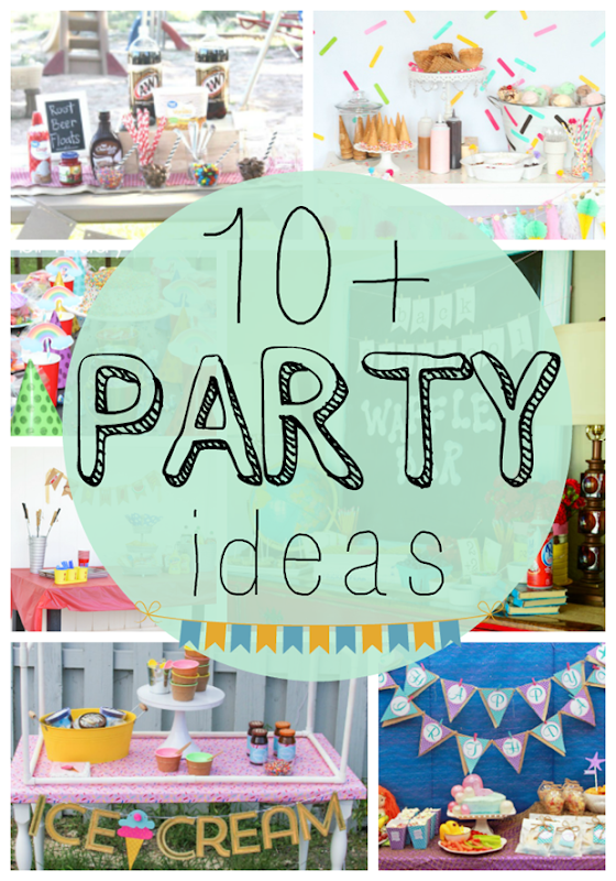 Over 10 Party Ideas at GingerSnapCrafts.com #party #partyideas