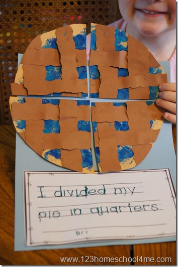 finished pie craft with free printable creative writing prompt
