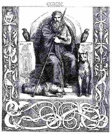 Odin On His Throne, Asatru Gods And Heroes