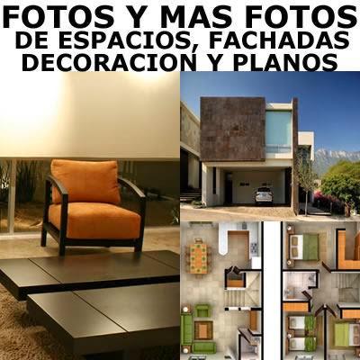 Decoraci n de interiores fachadas de casas y plantas for Fachadas de casas interiores
