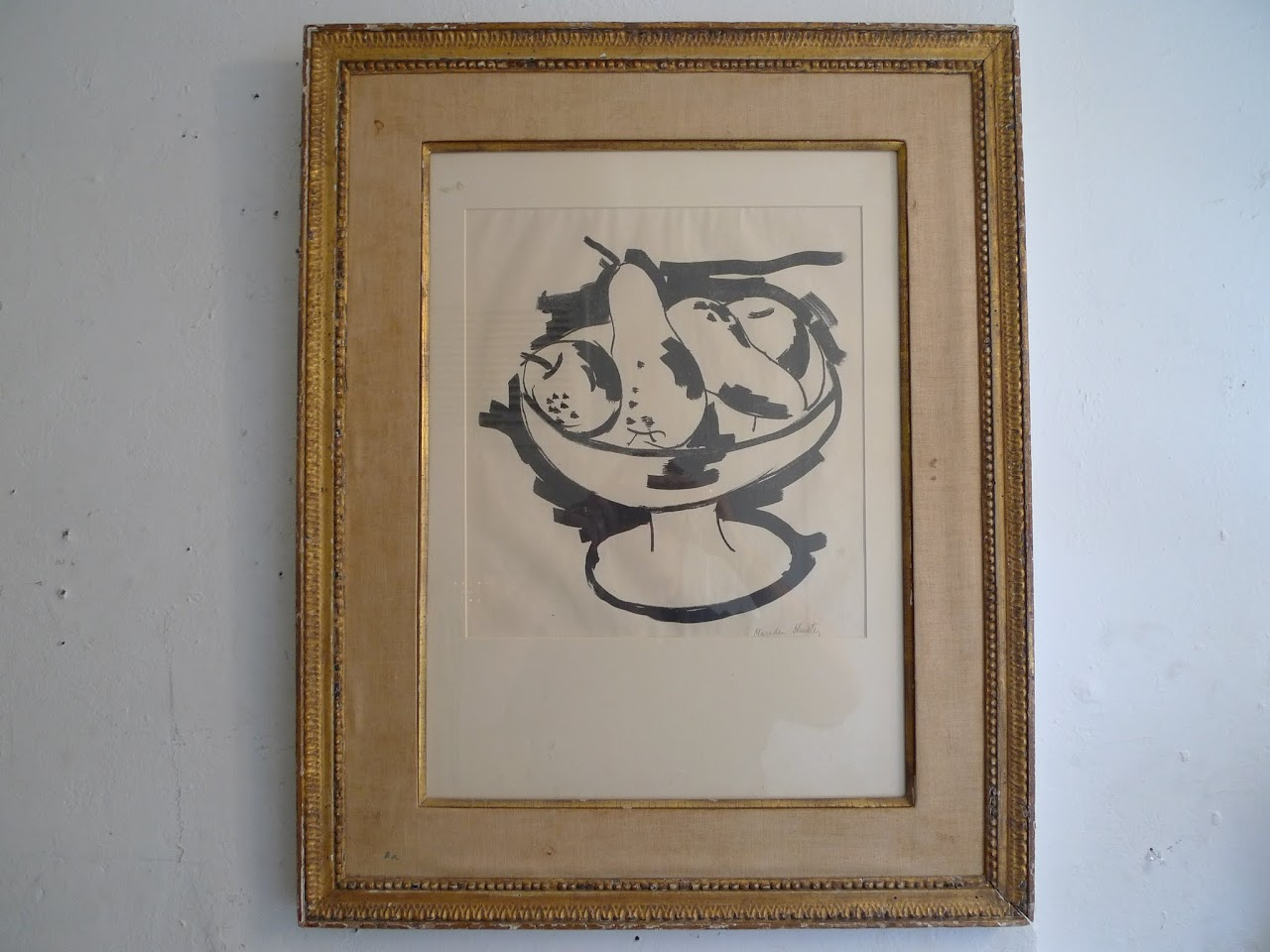 Marsden Hartley Signed Bowl of Fruit Lithograph