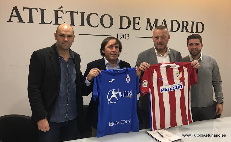 El cova rubrica el acuerdo con el atl tico de madrid for Oficinas atletico de madrid