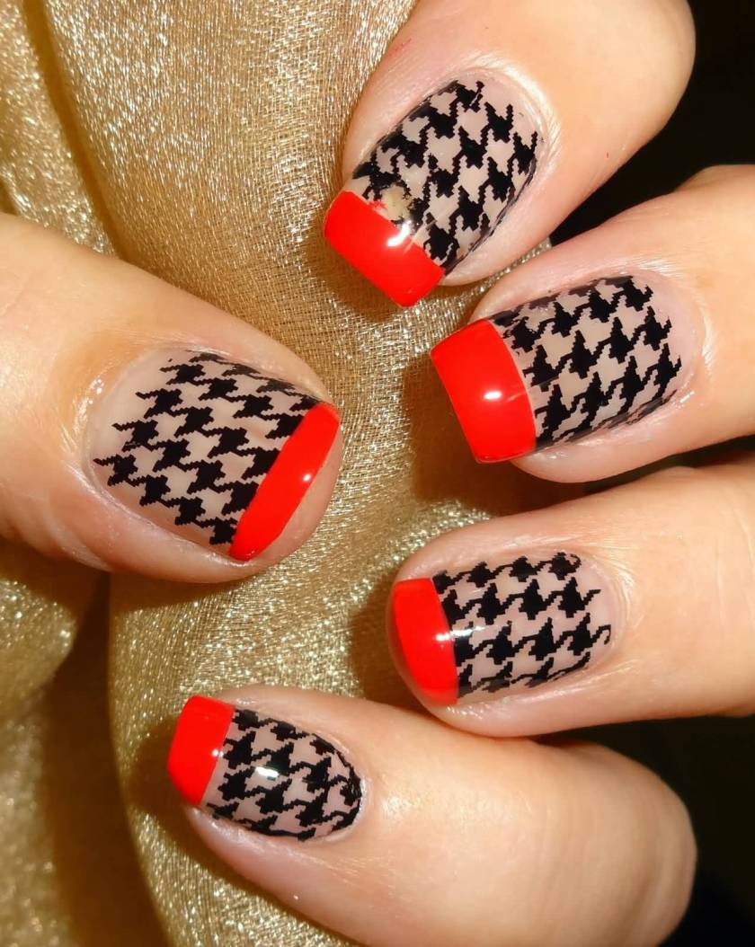Latest Houndstooth Nail Art Designs For 2017 Styles Art
