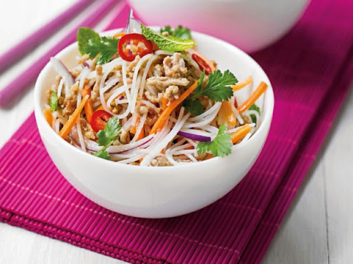 Zesty rice-noodle salad