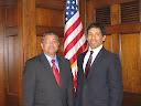 H.E. Ambassador Akramul Qader with Congressman Hansen Clarke