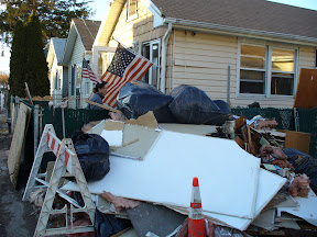 Debris pile from Richey's house