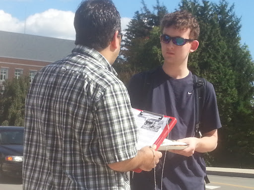 This is Evan, a young man I spoke with at the University of New Hampshire today. He seemed very open to the gospel message.