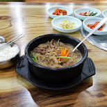 some bibimbap in Itaewon (forgeigner district) in Seoul in Seoul, Seoul Special City, South Korea