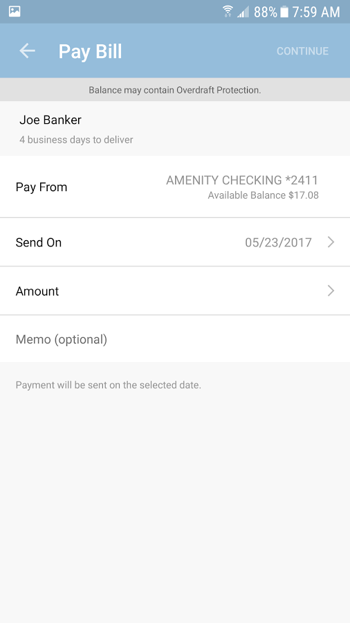 Ameris Bank Personal Mobile- screenshot