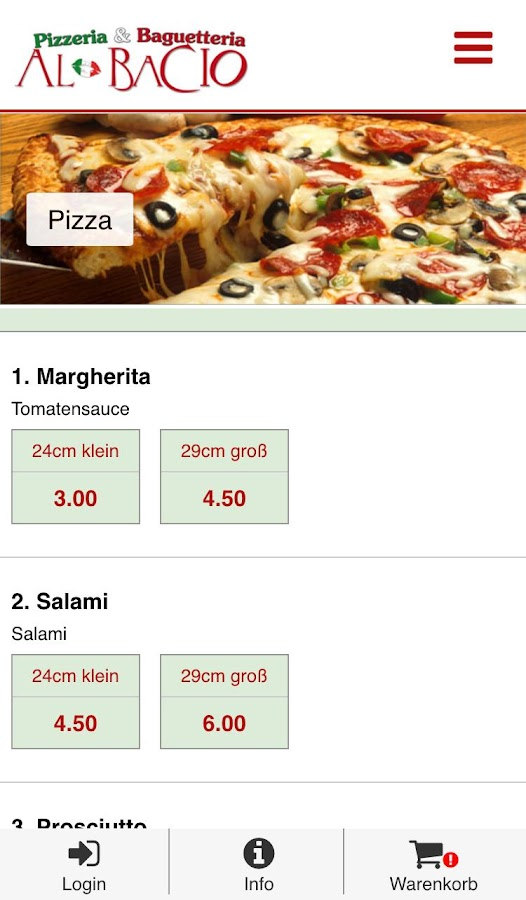 Pizzeria Al Bacio- screenshot