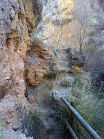 escaleras escavadas en la roca