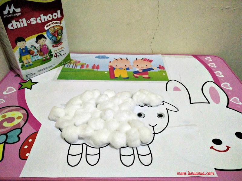 Hasil Membuat Domba Berbulu