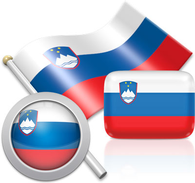 Slovenian flag icons pictures collection