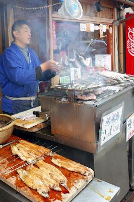 Food around the outside of Fushimi Inari Shrine - Eel (Unagi)