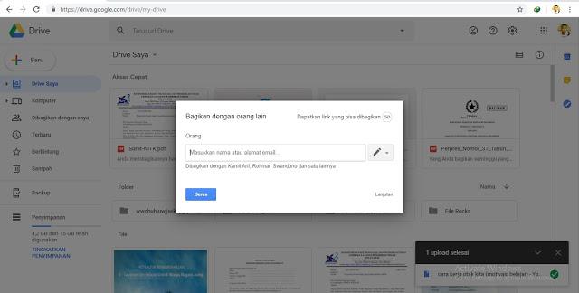 Cara Membagikan File Google Drive Langsung ke Email.