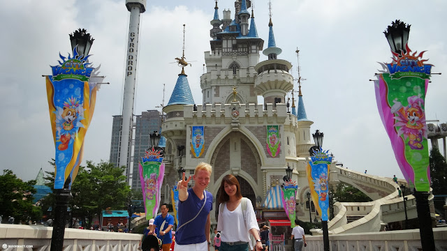 the Lotte World castle in Seoul, Seoul Special City, South Korea