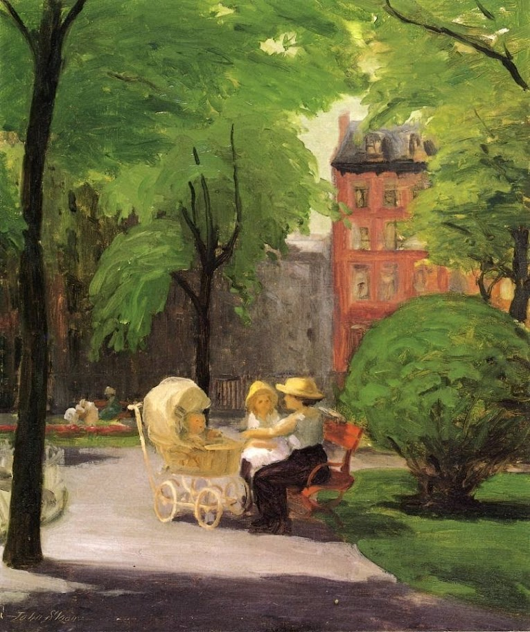 John Sloan - Spring, Grammercy Park