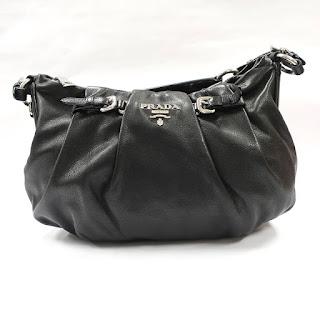 Prada Black Leather Shoulder Bag
