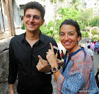 Lok Sabha Elections 2014: Boman with Bollywood actress Parizad Zorabian casts her vote at a polling booth in Bandra, Mumbai. On 24 April 2014 PIC:SAYYED SAMEER ABEDI